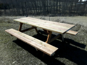 Newly Built 7 ft Pressure Treated Picnic Table