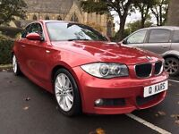 2008 (08) BMW 123D M-Sport Coupe 2dr / 98K FSH / 12 Months MOT / 3 month warranty / Red Leather