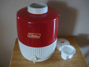 Two Coleman Steel-Belted Camping Beverage Coolers W/ Spout
