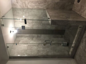 Frameless GLASS shower for your bathroom RENO, and glass RAILING