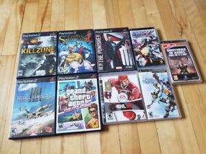 Jeux vidéos Playstation: PS2, PS3 et PSP