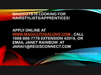 Hairstylists/Apprentices Needed in Oakville