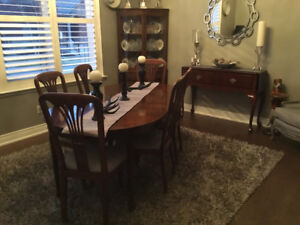 Solid mohagony dining room suite