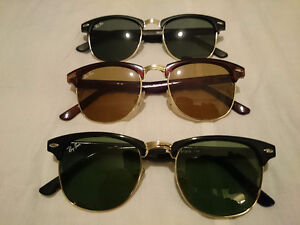RAY BAN CLUBMASTERS SUNGLASSES LOT *MATTE/GLOSS/BROWN*