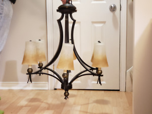 6-Light Shaded Chandelier,  Classic design