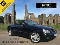 2007 Mercedes-Benz CLK200 Kompressor Cab Auto Avantgarde **Only 40,000 Miles**