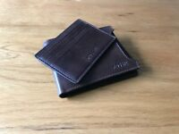 Leather Fossil Wallet - Derrick Sliding 2-in-1