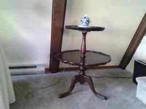 Two tier mahogany table