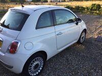 Fiat 500 Lounge 2012 white