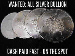 LOOKING TO BUY SILVER COINS OR BULLION - CASH ON SPOT