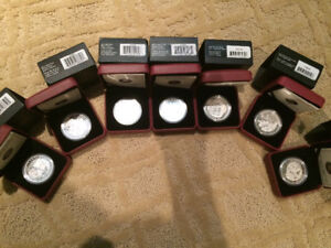 2012-2013 Silver $20 Group Of Seven set coins