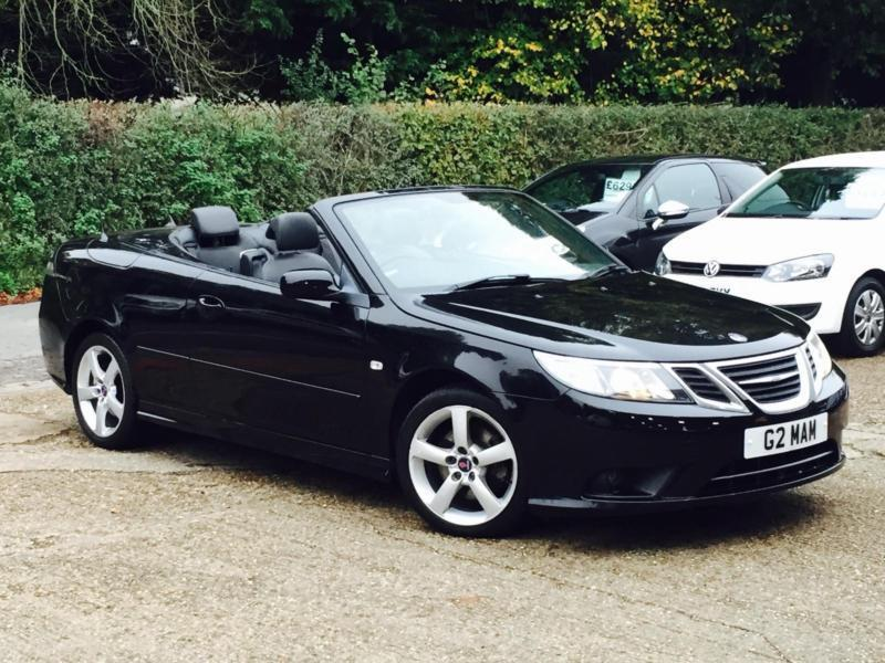 2009 Saab 9 3 1 9tid 150ps Linear Se Sel Convertible Black Only 56k Miles