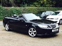 2009 Saab 9-3 1.9TiD ( 150ps ) Linear SE Diesel Convertible Black only 56k Miles