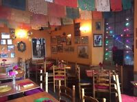 Full/Part-time waiting staff and KP (35+ hrs) wanted for family-run Mexican restaurant