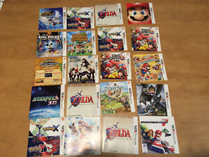 Lots Manuels D'Instructions WII PS2 PS3 Xbox DS 3DS GBA
