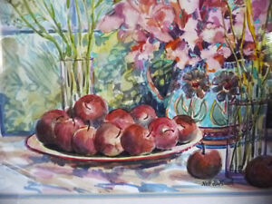 "Morning Harvest, ""Apples on a Large Plate"" by Nell LaMarsh, 1994 Stratford Kitchener Area image 5"