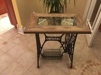 Antique sewing machine base table