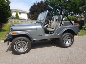 1980 Jeep CJ5. Manual transmission. Excellent condition.