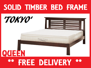 BRAND NEW Solid Timber QUEEN Size Bed Frame DELIVERED FREE New Farm Brisbane North East Preview