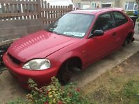 Honda Civic ej9 facelift Milano red breaking spares ek9 recaros boot door bonnet bumper Vtec type r