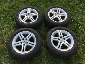 """4 pneus + mags 16"""" 205/55/16 Altimax RT43 tires"""