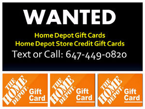 BUYING HOME DEPOT GIFT CARDS / HOME DEPOT STORE CREDIT