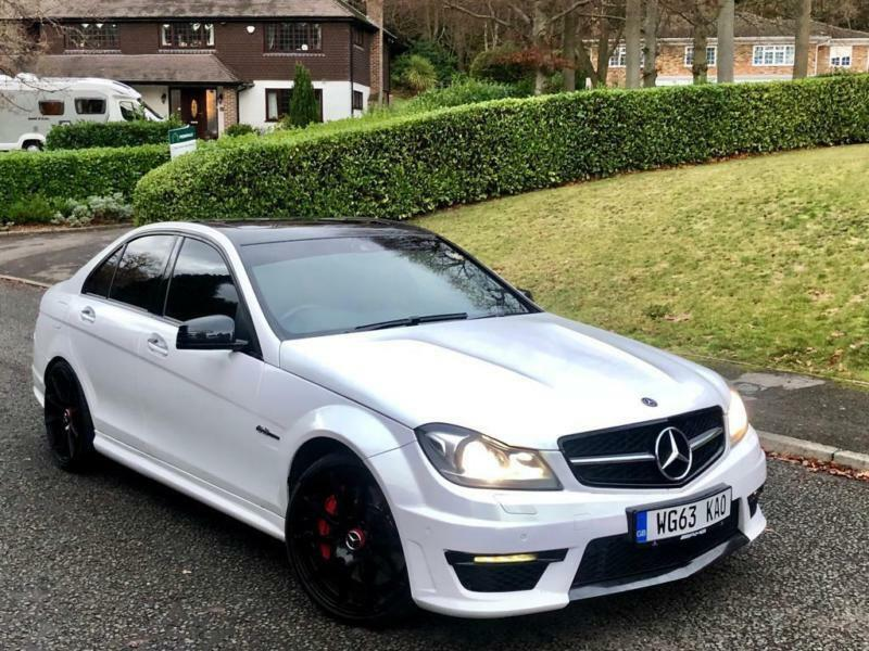 2014 63 MERCEDES C63 6.3 AMG MCT 7S 4DR SALOON WHITE ...