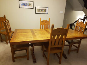 Solid Rustic Mexican Dining Room Set