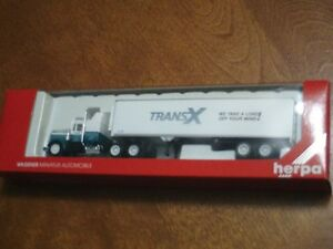 HO scale Trans X tractor trailer