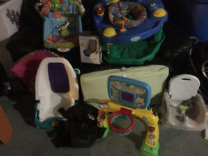 Baby bath,exersauser,carrier,toys,booster seat&more