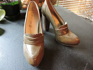 Boutique 9 leather stacked heeled loafers