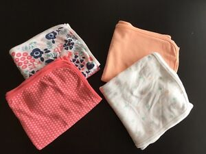 Carter's swaddle and receiving blankets