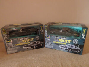 Bullitt '68 Mustang and '68 Dodge Charger 1:25 scale model kits
