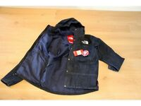 Supreme x The North Face Denim Dot Shot Jacket Size XL 100% authentic