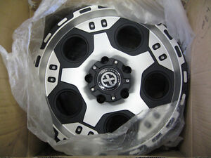 """Two New American Racing ATX 17"""" x 9"""" Justice Rims"""