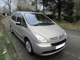 2006 '56' CITROEN XSARA PICASSO 1.6 16v EXCLUSIVE ONLY 55,000 MILES F,S,H,