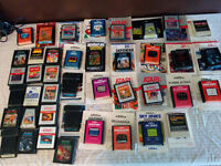 Huge atari collection!!!  40 games and 2 consoles
