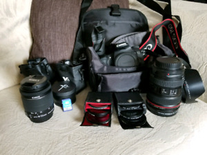 Canon 70d, filters and 24-105mm canon L series