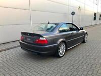 2005 05 reg BMW 330Cd M Sport Coupe + GREY + Auto + BLACK LEATHER 330 CD