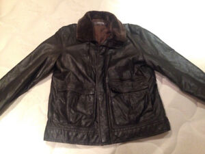Kenneth Cole Men's Black Leather Jacket