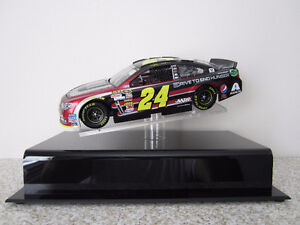 Two Jeff Gordon 1/24 Scale Nascar Diecasts with Display Case.