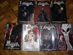 SELLING  PUNISHER MAX VOLS 1 TO 7 not hardcover  all mint