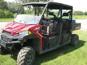 2016 POLARIS RANGER XP CREW SIDE X SIDE,** LOW MILES & MINT **