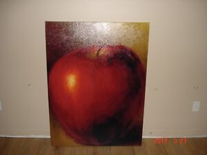 Apple Painted on Canvas