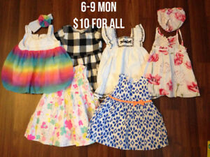 Baby Girls Clothing, mostly 6 mon +, prices in photos