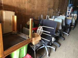 HOUSEHOLD AND OFFICE FURNITURE  FOR SALE