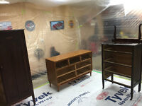 Furniture sprayed - fixing- stained