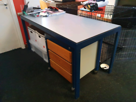 Solid surface laminate office desk