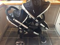 Icandy peach 2 double buggy in black