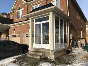 PORCH ENCLOSURE & STORM DOOR installation
